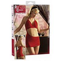 Червона міні-сукня червоний кут
