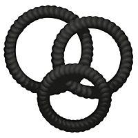 Комплект ерекційних кілець Lust3 black
