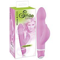 Невеликий водонепроникний вібратор Smile Dolphin рожевий