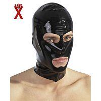 Латексна маска з отворами чорна