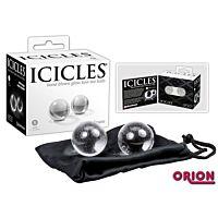 Дві невеликі кульки зі скла Icicles